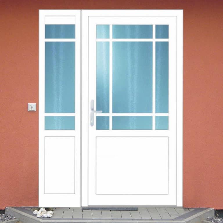 Haustüre NP154 mit Seitenteil weiß