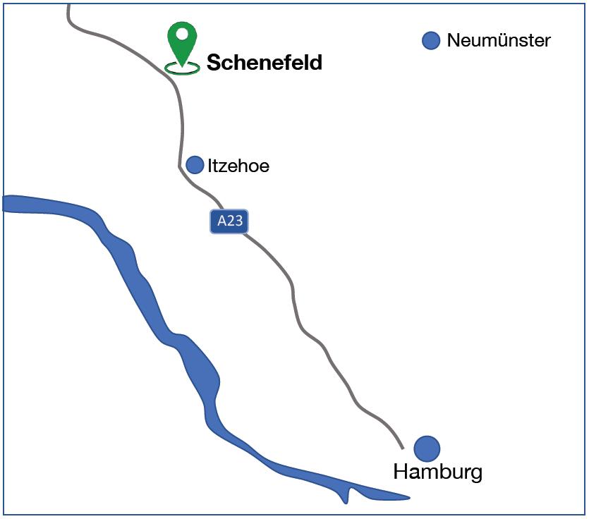 Karte mit Lage Schenefeld