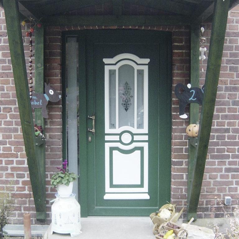 Haustüre Annabell grün-weiß