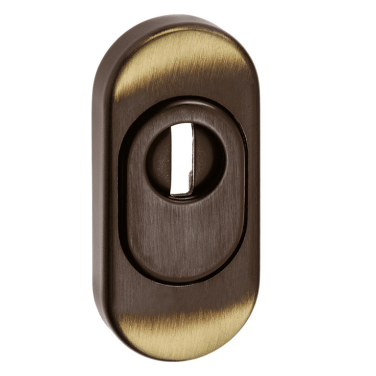 Profizylinder Messing oval mit Zylinderabdeckung