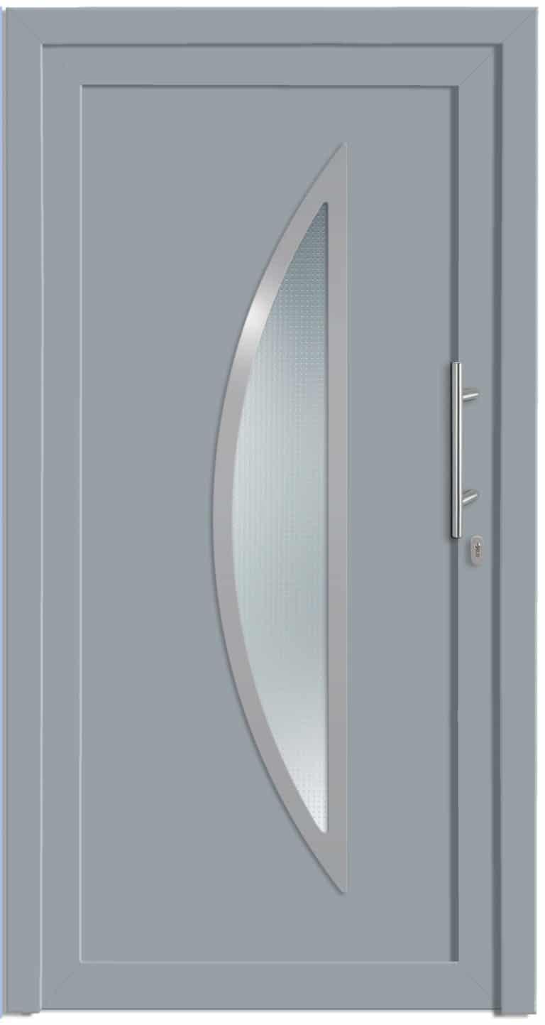 Haustüre NP-4000-70-B Silbergrau genarbt