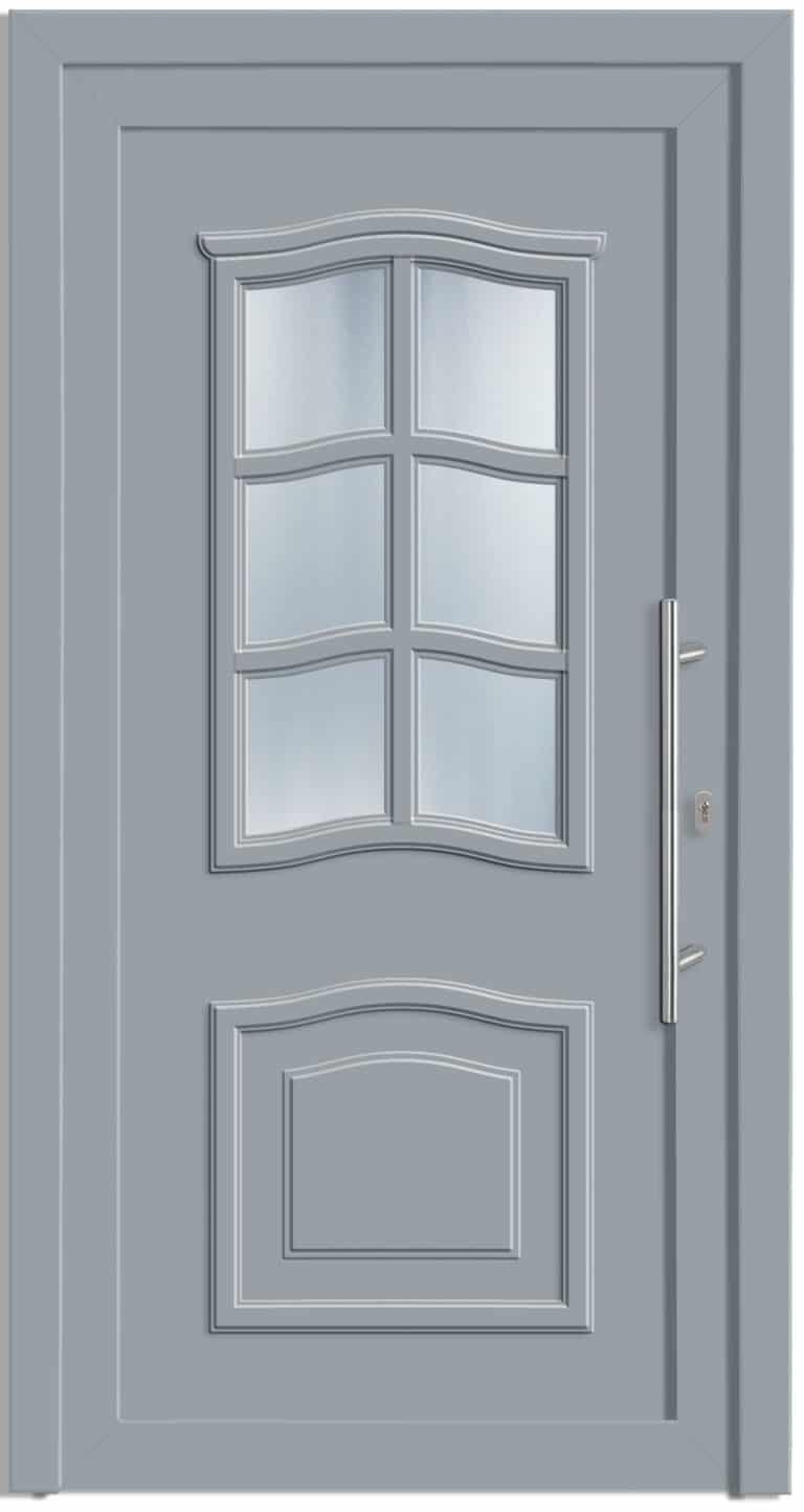 Haustüre NP-5000-90 Silbergrau genarbt