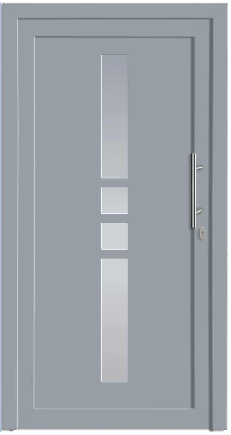Haustüre NP-1000-40 Silbergrau genarbt