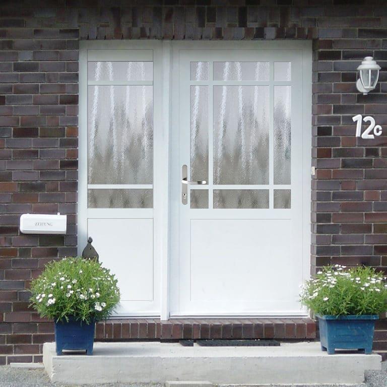 Haustür NP154 mit Seitenteil weiß