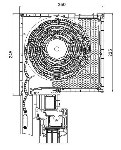 Rolladen Querschnitt Aufsatz 250x235